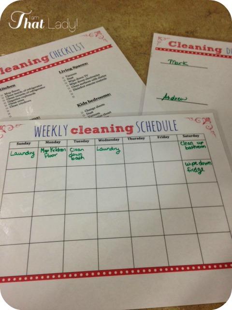 ¡Imprima estos 3 imprimibles de limpieza semanales gratis!