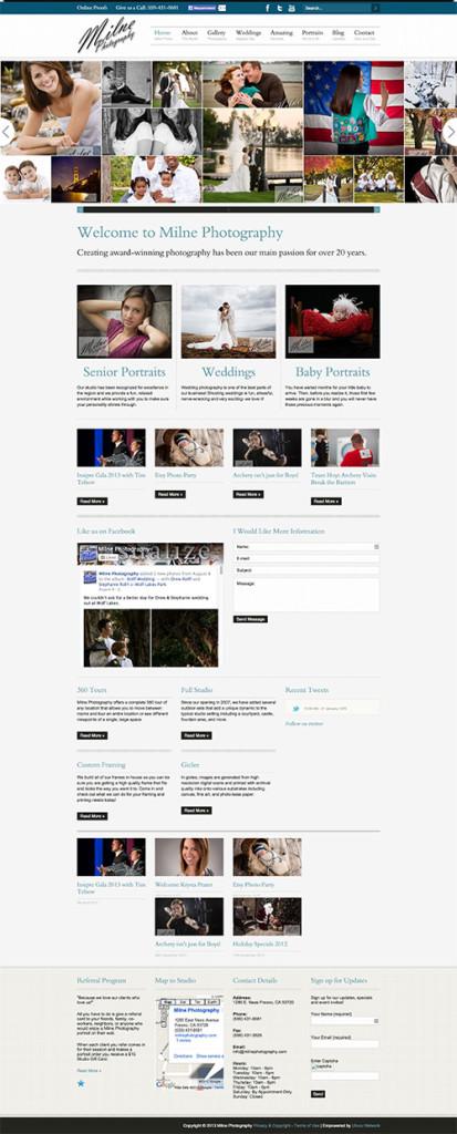 Diseño de sitios web 2012 - Milne Photography