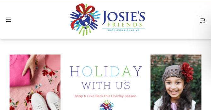 Página de inicio de Josies Friends