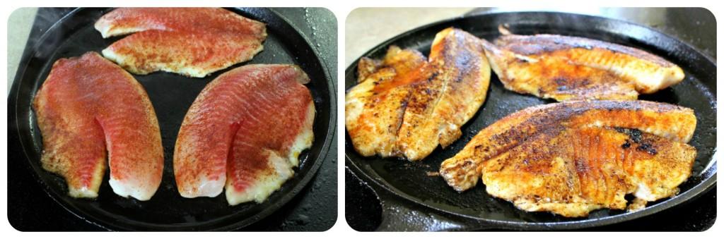 Cocinar tilapia en hierro fundido