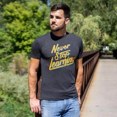 camiseta nunca dejes de aprender