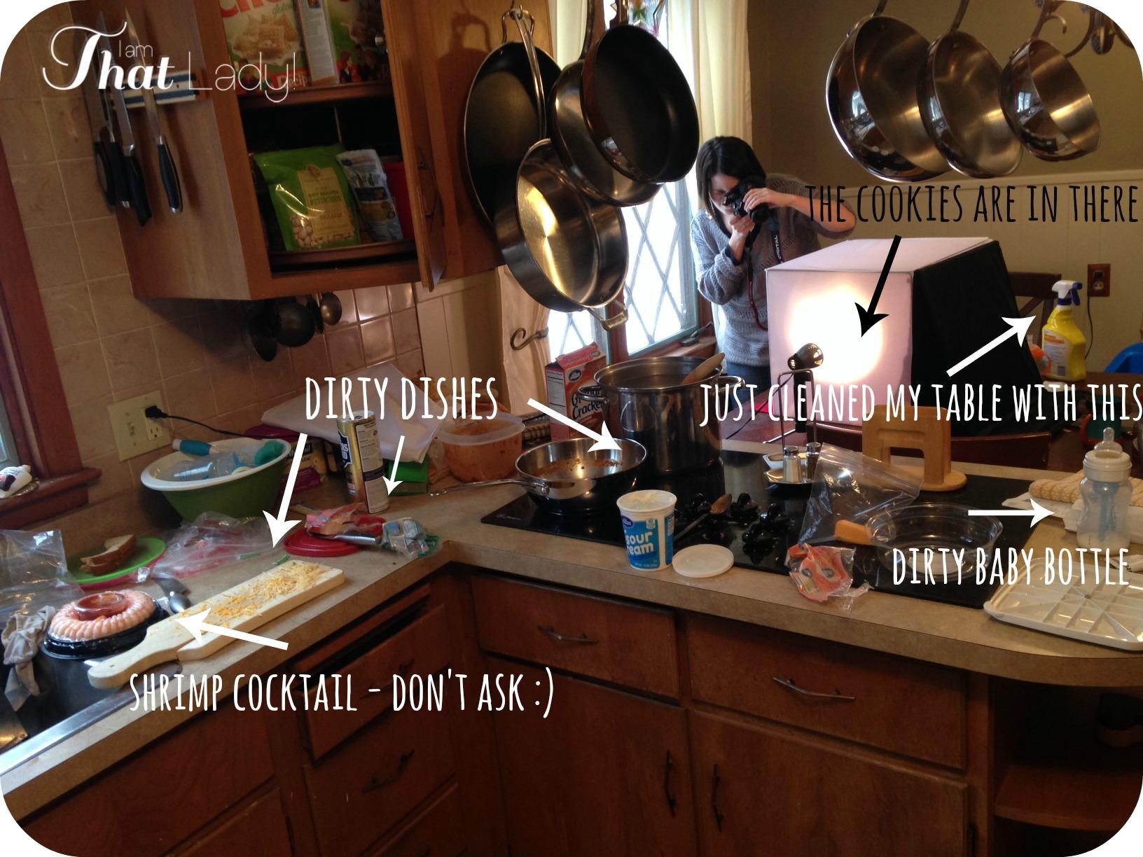 Cómo se ve mi cocina durante la toma de fotografías