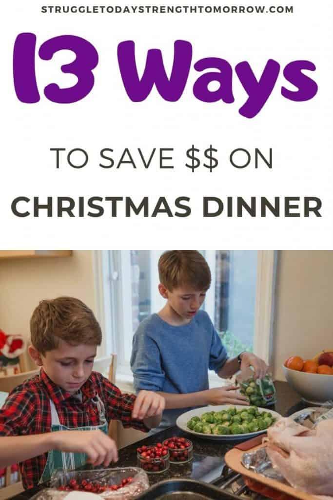 13 formas de ahorrar dinero en la cena de Navidad. Haga recuerdos con su familia y deje de estresarse por la fiesta navideña. Al ahorrar dinero en la cena de Navidad, puede destinar más dinero a otras cosas o guardar más en su billetera. Haga clic para ver varios consejos para ahorrar dinero y algunas excelentes ideas para cenas no tradicionales que puede hacer con un presupuesto. #ahorrosdevacaciones #conjunto de masones de Navidad #dinnerideas #savingmoney #moneysavingtips #frugalmealplanning #christmasdinner