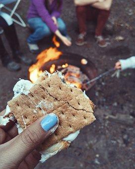 cocinar humo al acampar