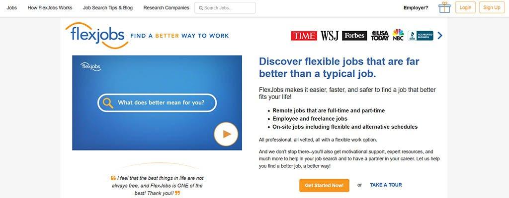 trabajos independientes - flexjobs