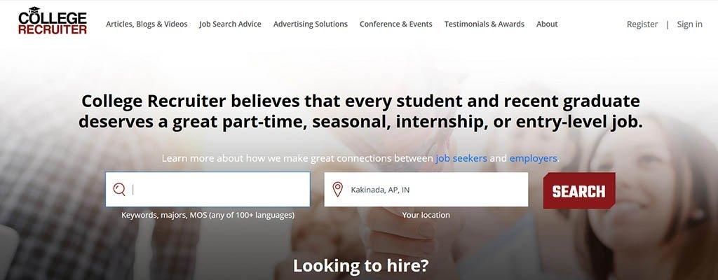 sitios de trabajo independientes - reclutador de colegios