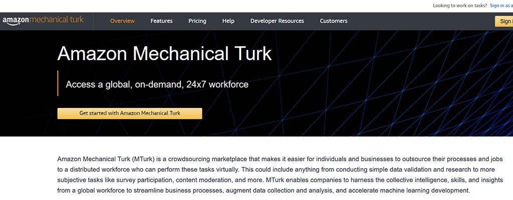 mechanical turk - freelance jobs