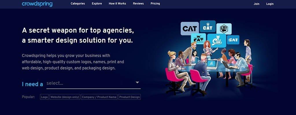 crowdspring - freelance jobs sites