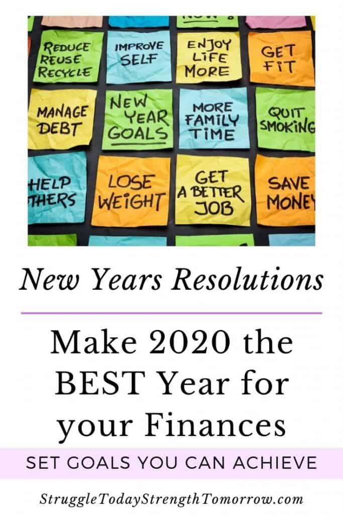 Haga de 2020 el año en que cambie su vida con estas resoluciones de año nuevo que puede lograr. Haga clic para averiguar qué puede hacer para establecer objetivos que valga la pena establecer y cómo mantenerse motivado durante el año. #financiamiento personal #nuevosyños #resoluciones de año nuevo # administración del dinero #pago de deuda #makemoney # metas