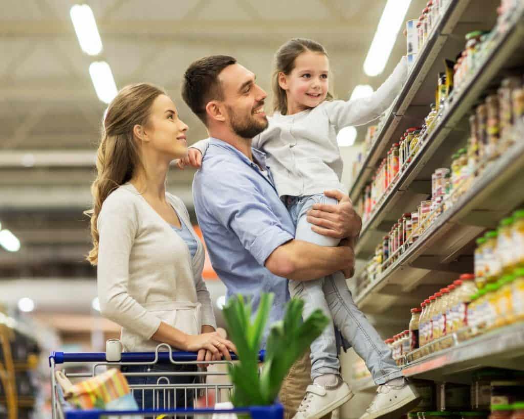 Compras familiares juntas