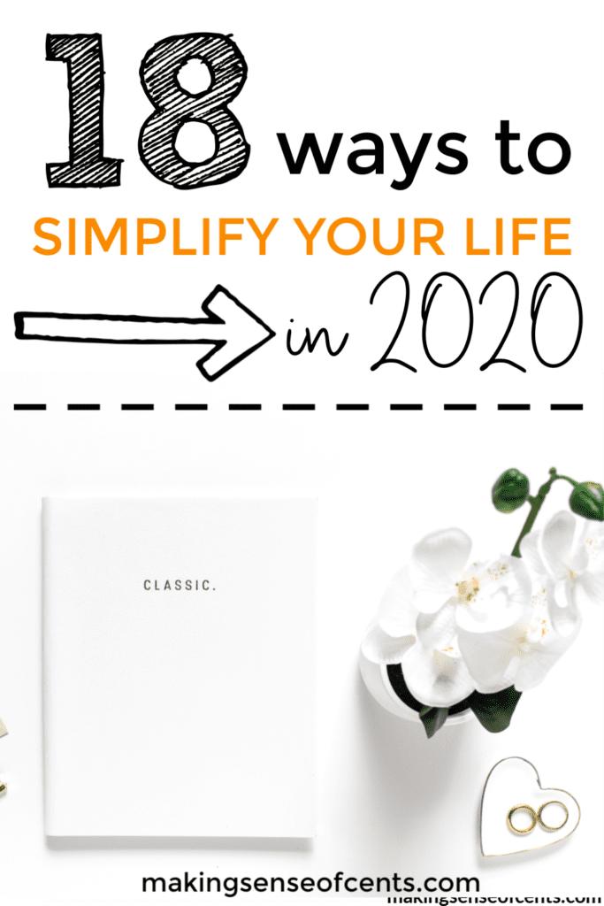 18 maneras de simplificar tu vida en 2019