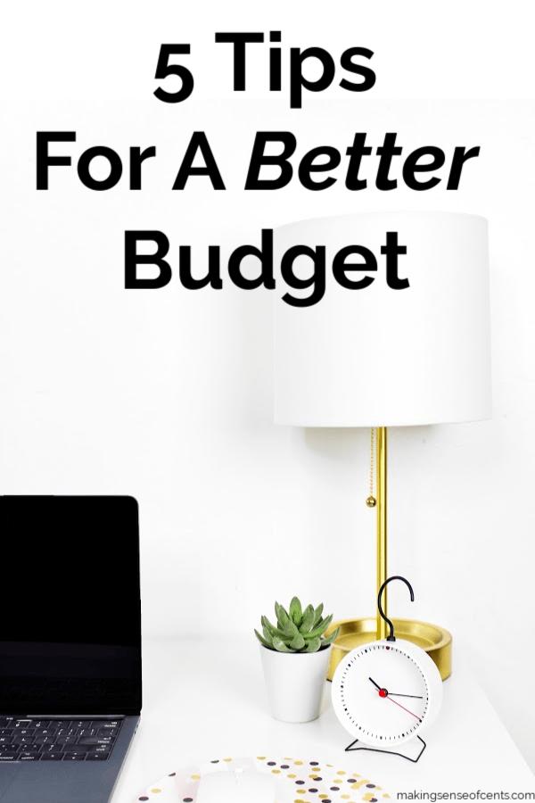 5 consejos para un mejor presupuesto #betterbudget