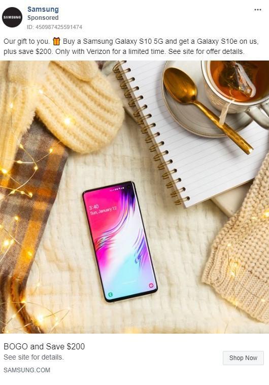 Anuncio de Samsung