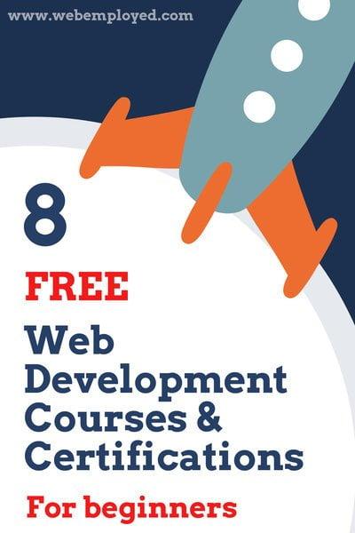 8 Cursos y certificaciones de desarrollo web gratuitos para principiantes
