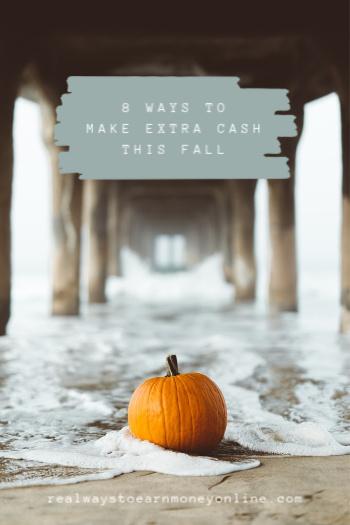 Ocho formas de ganar dinero extra este otoño. #falljobs #makeextramoney #workfromhome
