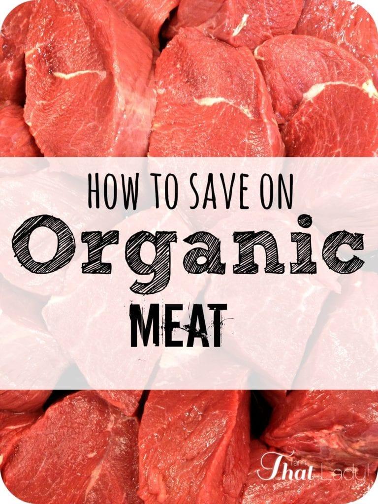 Cómo ahorrar en carne orgánica