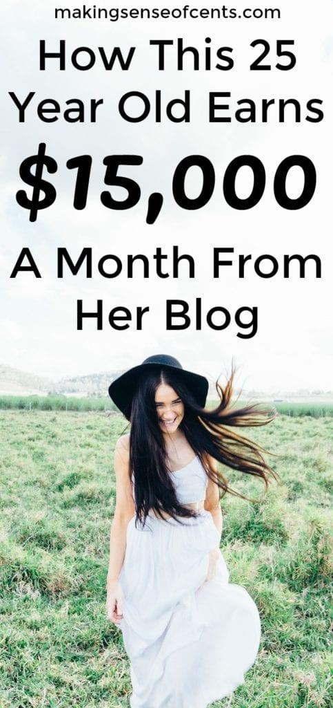 Cómo esta joven de 25 años gana $ 15,000 al mes con su blog