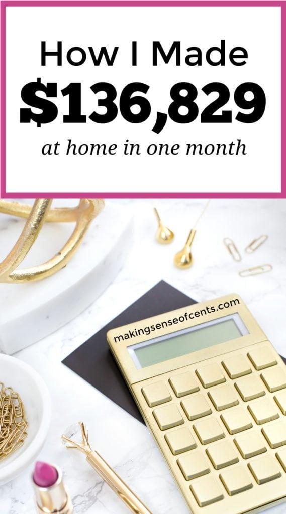 ¿Quieres ganarte la vida desde casa? ¡Así es como esta mujer ganó más de $ 100,000 el mes pasado trabajando desde casa! #howtostartablog #startablog #workfromhome #makeextramoney