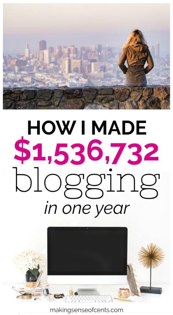 ¡Así es como gané $ 1,536,732 en blogs en 2017! #howtomakemoneyblogging #howtomakemoneybloggingforbeginners #howtomakemoney #waystomakeextramoney