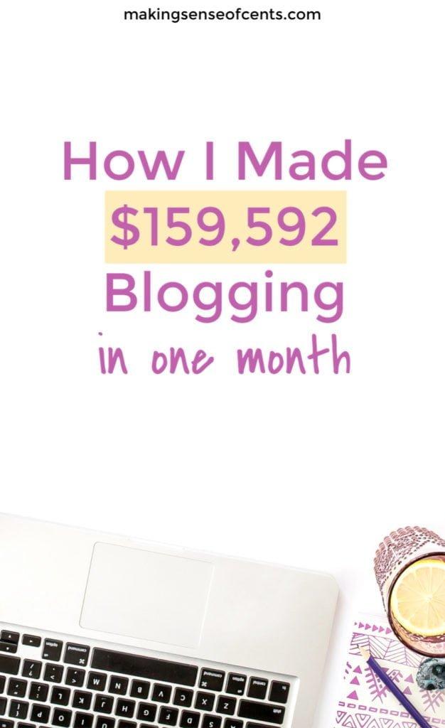 Cómo gané $ 159,592 Blogging en noviembre de 2018 #howtostartablog #howtomakeextramoney