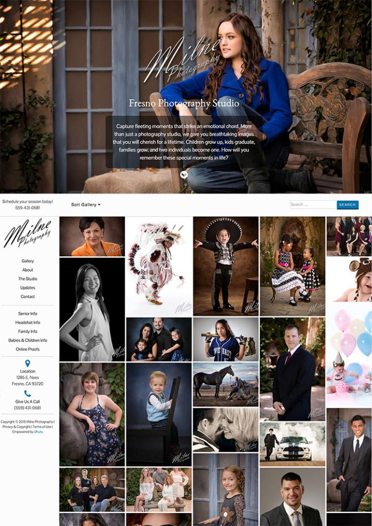 Diseño de sitios web de fotografía