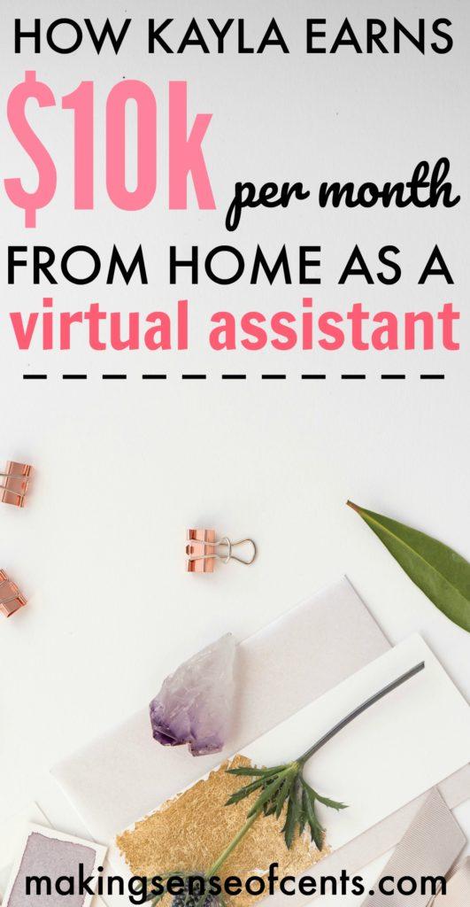 Cómo Kayla gana $ 10K / mes desde casa como asistente virtual