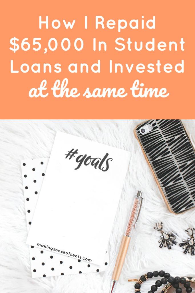 Cómo reembolsé $ 65,000 en préstamos estudiantiles e invertí al mismo tiempo #pagos de préstamos estudiantiles # préstamos estudiantiles # consejos para ahorrar dinero