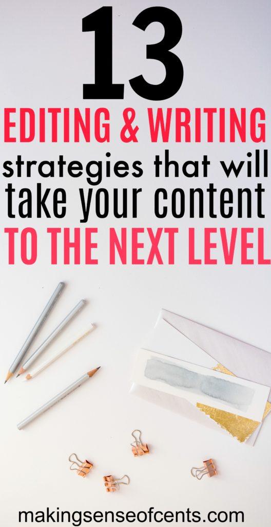 Estrategias de edición y escritura que llevarán su contenido al siguiente nivel