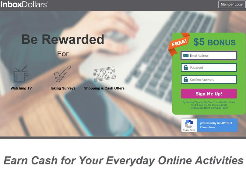 Sitio web de InboxDollars