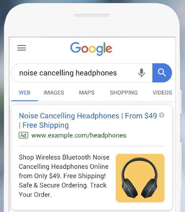 Extensiones de anuncios con imágenes de Google