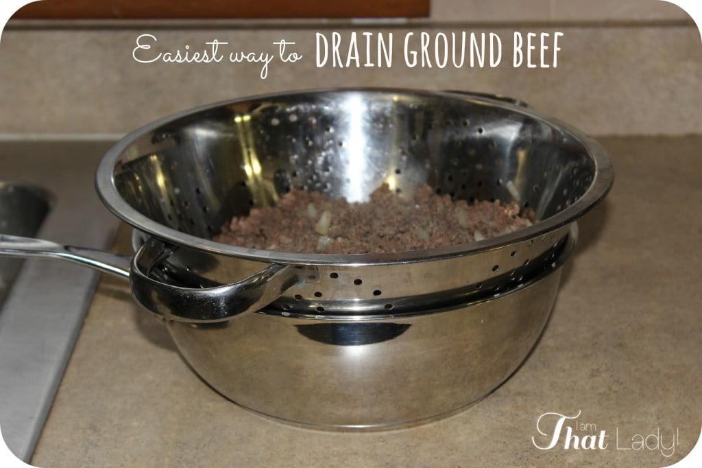 ¿Estás buscando una manera simple de drenar tu carne molida? ¡Aquí hay una manera súper fácil y limpia de hacerlo en solo segundos!