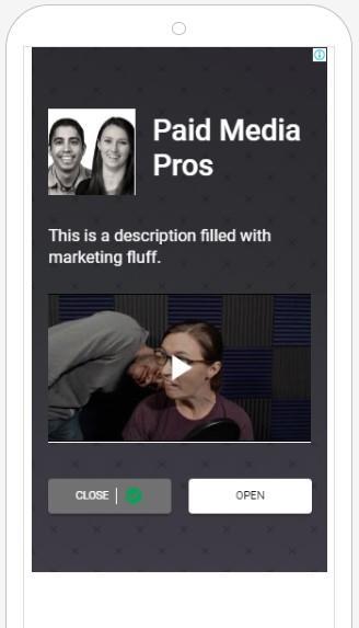 anuncio de display con ejemplo de video