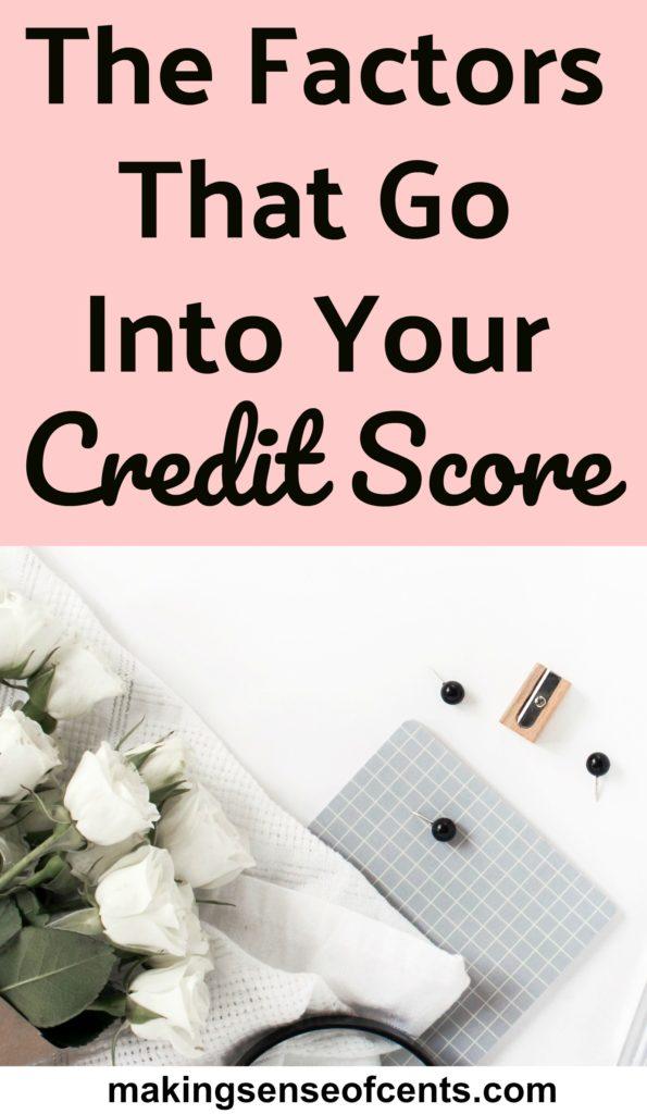 Los factores que entran en su puntaje de crédito