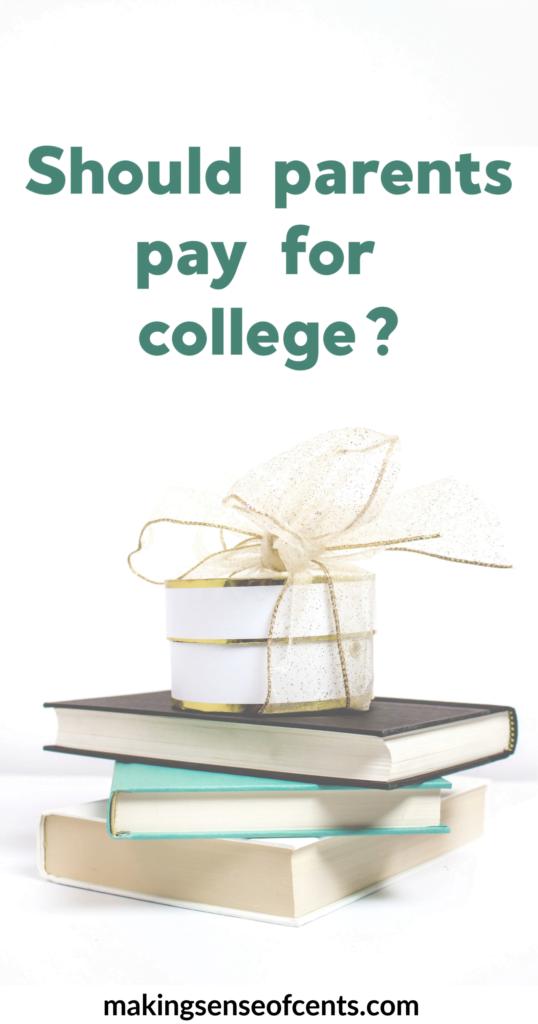 Padres que pagan la universidad: ¿es una buena idea? #shouldparentspayforcollege #parentspayforcollege #collegedebt
