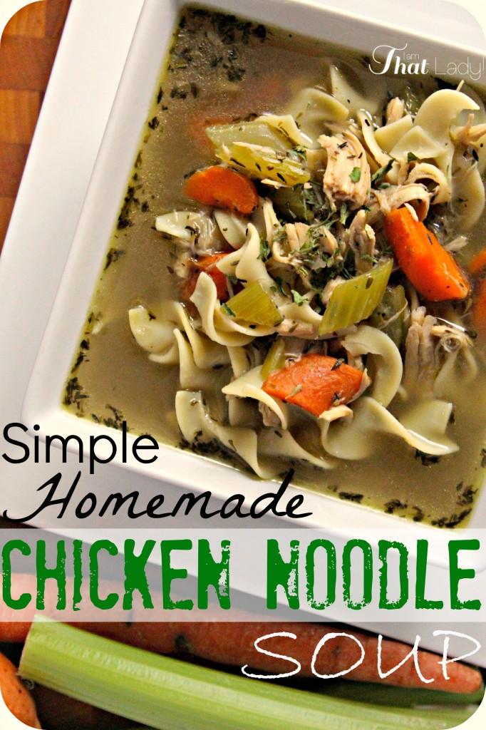 La sopa de fideos con pollo hecha en casa es más fácil de lo que piensas. ¡Esta receta es la mejor que he probado, mejor que la de mi abuela!