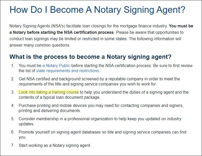 el mejor curso de capacitación de agente de firma de préstamos