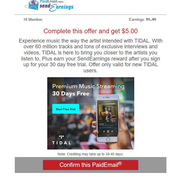 Enviar correo electrónico de ganancias