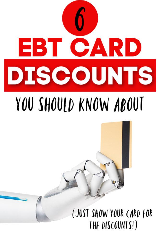 Si tiene una tarjeta EBT, hará que su dinero vaya aún más lejos con estos descuentos. Aquí hay seis descuentos nacionales que debe aprovechar.