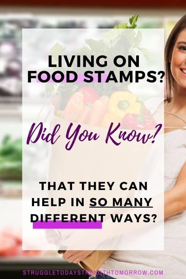 ¿Vive en cupones de alimentos? ¿Sabías que pueden ayudar de muchas maneras diferentes? Esas pequeñas tarjetas EBT hacen mucho más que ayudar a estirar su presupuesto de alimentos, y en realidad es bastante increíble. Haga clic para ver todas las cosas maravillosas que pueden hacer estos trozos de plástico. #frugalliving # foodstamps #lowincome # presupuesto de comestibles #frugalfamily #finances #savingmoney #budgetandsave #budgeting #welfare