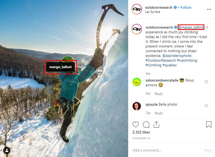 feed de Instagram de investigación al aire libre