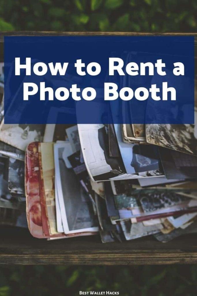 Cómo alquilar un fotomatón para cualquier evento