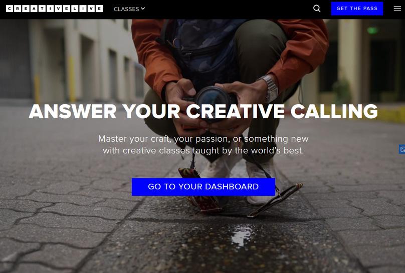 Sitio web de CreativeLive