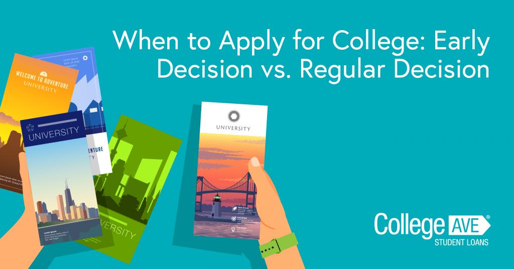 Decisión temprana, acción temprana y admisión regular