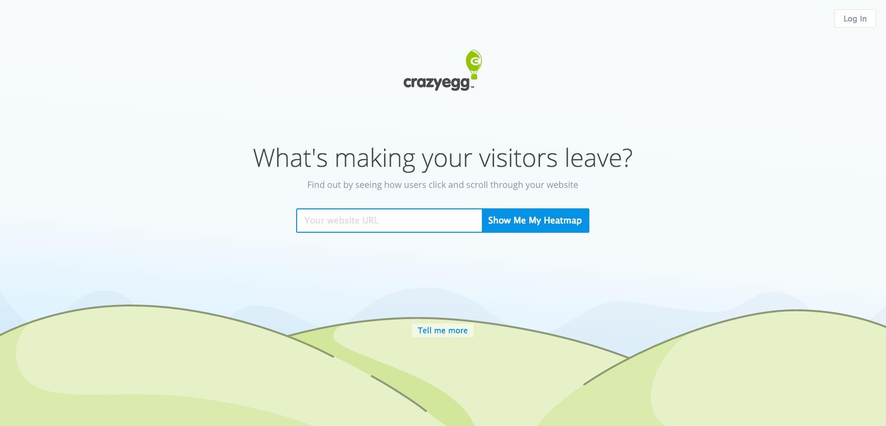 Errores de página de aterrizaje Ejemplo de CrazyEgg