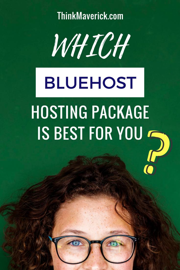 ¿Qué paquete de alojamiento de Bluehost es mejor para usted?