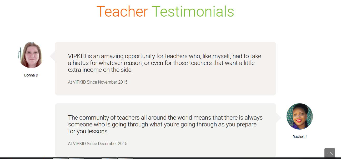 Testimonios de maestros VIPKid