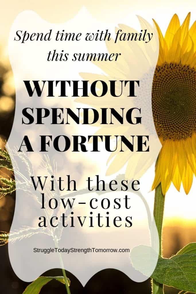 ¿Quiere pasar tiempo con la familia este verano sin costar una fortuna? El verano puede convertirse fácilmente en un destructor de presupuestos. En cambio, eche un vistazo a estas excelentes actividades familiares de bajo costo que pueden ayudarlo a ahorrar dinero y mantenerse activo. #active #family #frugaliving #budgetbuster #summer