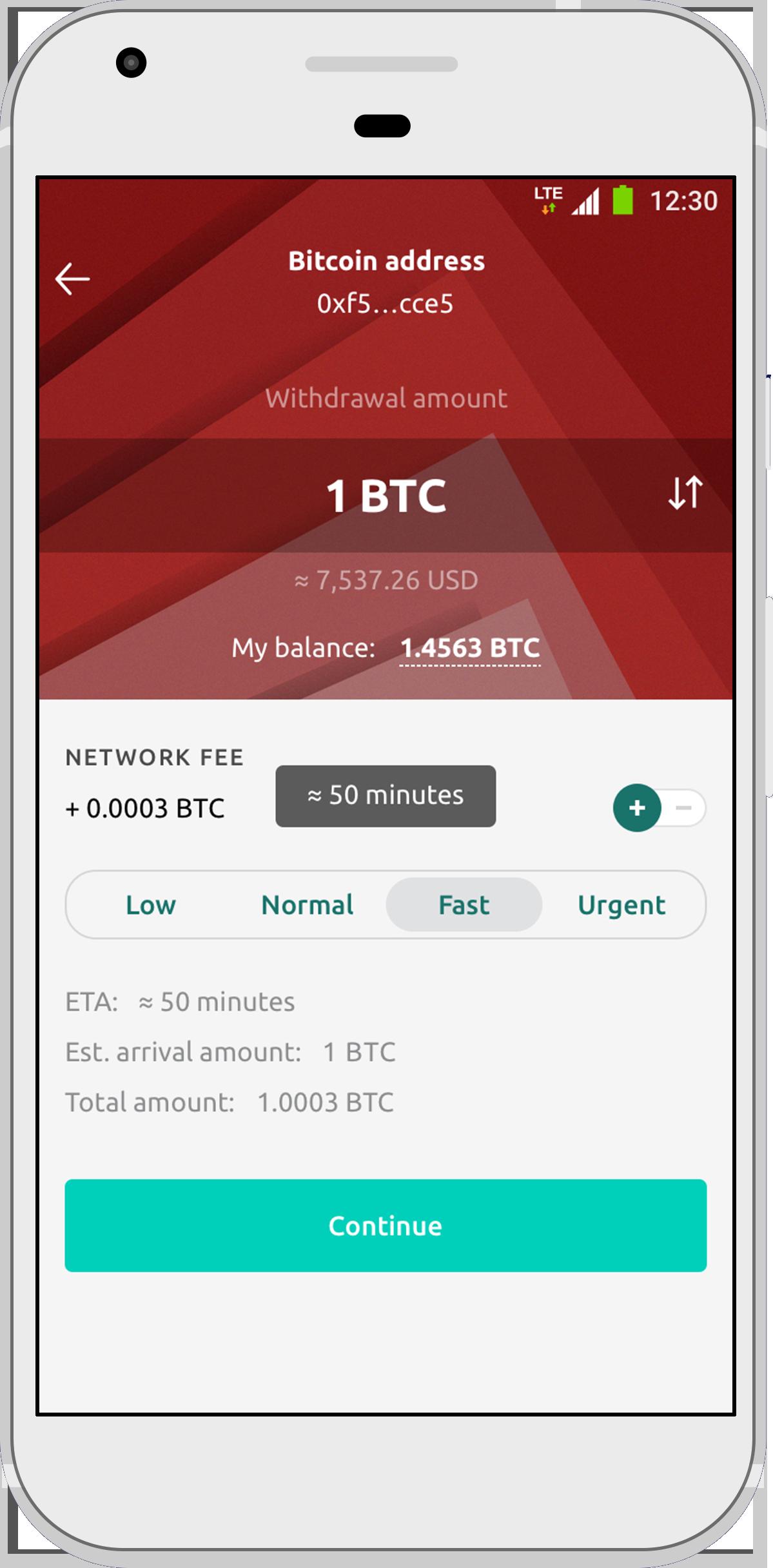 hora de llegada de bitcoin