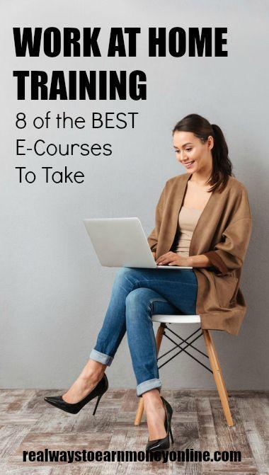 Work at Home Training: 8 de los mejores cursos electrónicos para tomar. #workathome #makemoneyonline #workathomecourses #ecourse #homebusiness #businesstraining