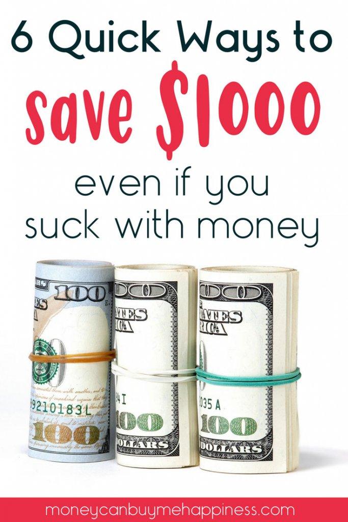 ahorrar dinero puede ser difícil, especialmente si eres malo con el dinero. Pero guardar sus primeros $ 1000 es un cambio de juego para sus finanzas. Lea estos consejos sobre cómo ahorrar dinero rápidamente para poder crear un fondo de emergencia y evitar endeudarse si sucede algo malo.